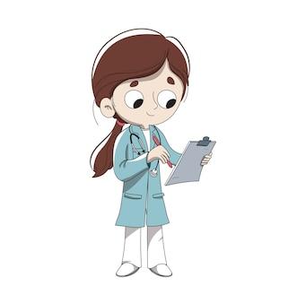 Doktor, der eine Diagnose macht