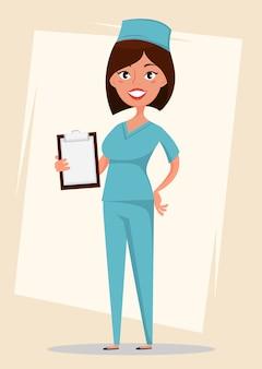Doktor, medizinische arbeitskraft in der blauen uniform