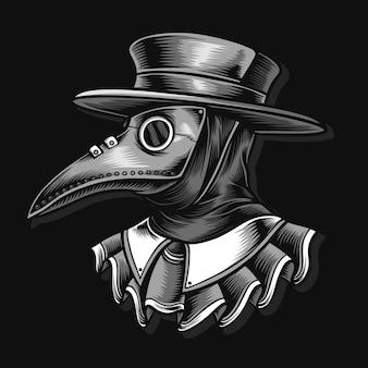 Doktor pest illustration