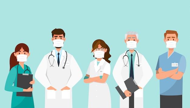 Doktor tragen maske in anderem charakter.