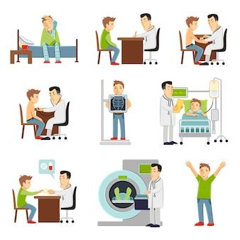 Doktor und patient eingestellt