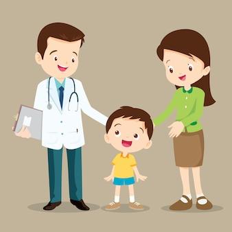 Doktor und süßer junge