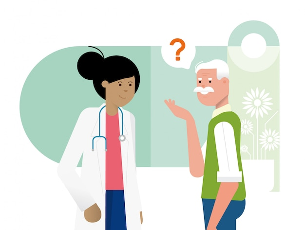 Doktorat und patient