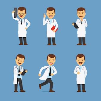 Doktorcharakter mit röntgenstrahl und stethoskop