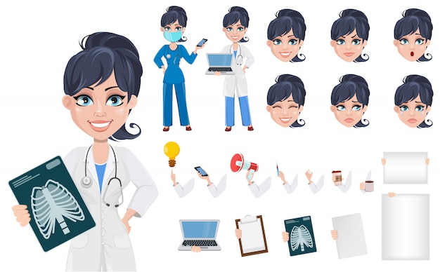 Doktorfrau, professionelles medizinisches personal