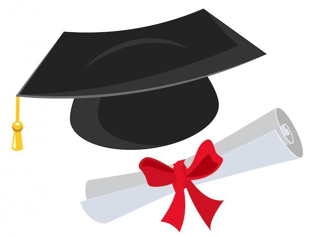 Doktorhut und diplom