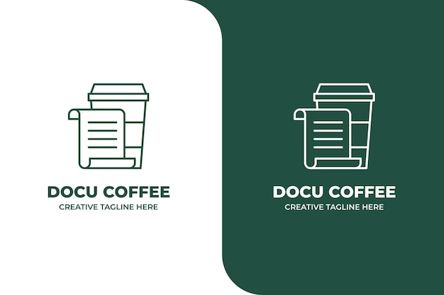 Dokument kaffee monoline logo