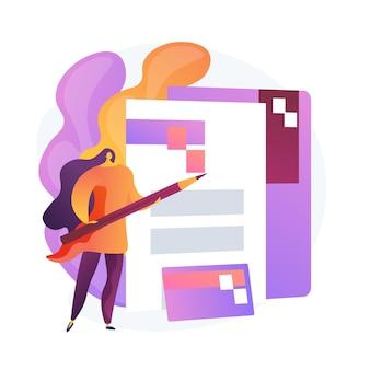 Dokumente ausfüllen. büroangestellter, firmenangestellter. kreditkarte, ordner, vertrag. unterzeichnung des arbeitsvertrags. firmenmarkenlogo.