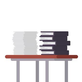 Dokumente und dateiordner in der tabellenabbildung