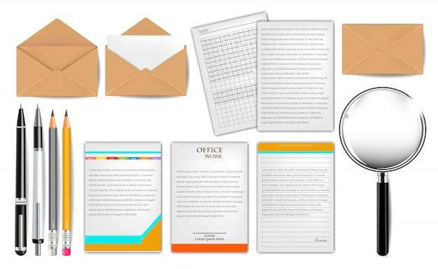 Dokumente und stationäres set