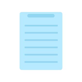 Dokumentsymbol des symbols. flache artvektorillustration lokalisiert auf weißem hintergrund