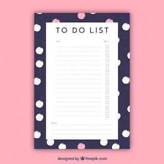 Dokumentvorlage mit weißen und rosa kreise
