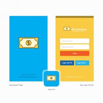 Dollar logo & login seite design