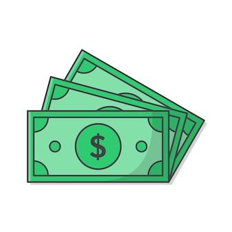 Dollar money cash isoliert auf weiß