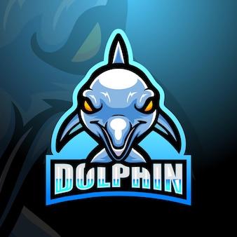 Dolphin maskottchen logo design