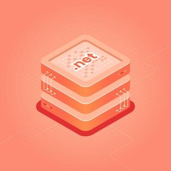 Domain-hosting isometrische illustration punktnetzkategorie