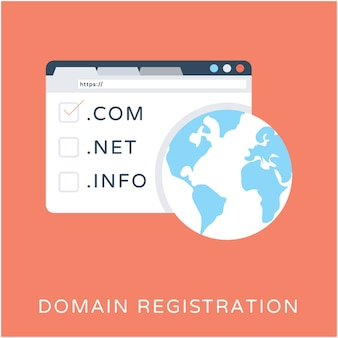 Domain registrierung flache vektor icon