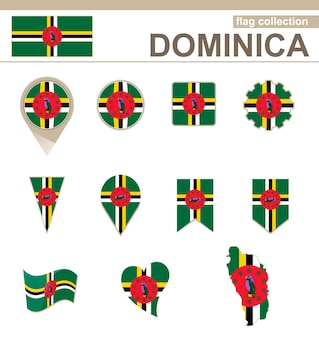 Dominica flag collection, 12 versionen