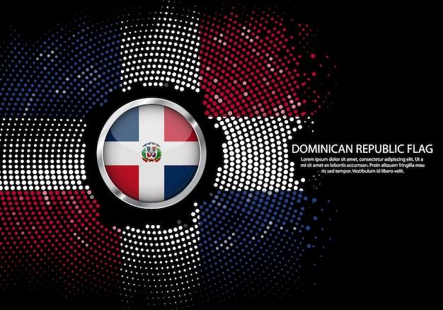 Dominikanische republik flagge.