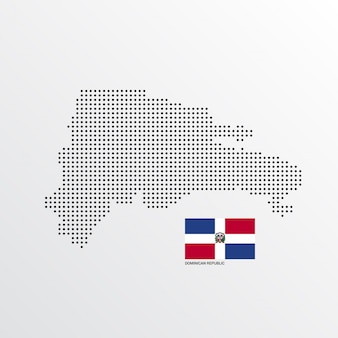 Dominikanische republik kartengestaltung
