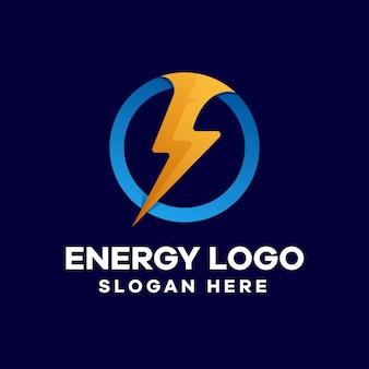 Donner-energie-farbverlauf-logo-design