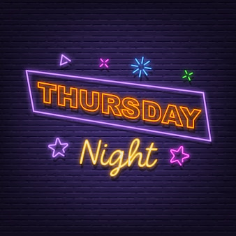 Donnerstag nacht leuchtreklame