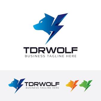 Donnerwolf-vektor-logo-vorlage