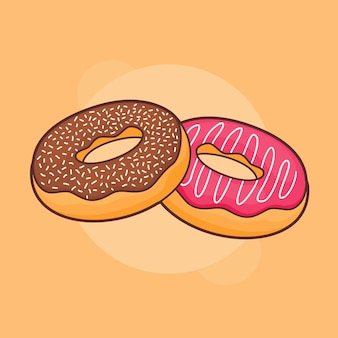Donut donuts beliebter süßer gebäck-snack