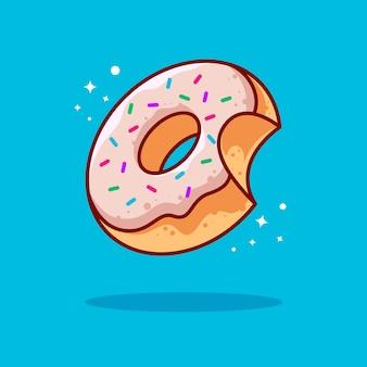 Donut-illustration mit umriss