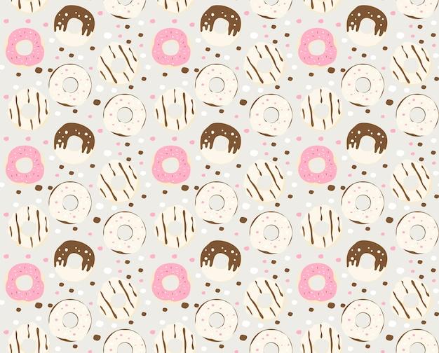 Donut-muster hintergrund