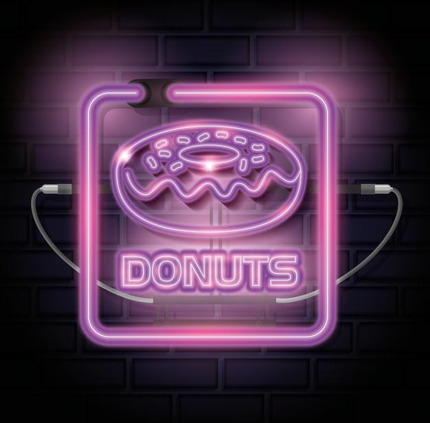 Donut süße neon-label