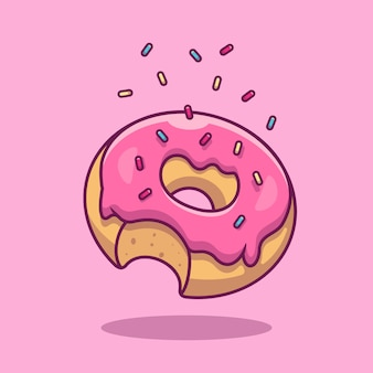 Donut-symbol. fast-food-sammlung. food icon isoliert
