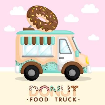 Donut truck blau