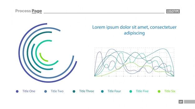 Donut und line charts slide vorlage