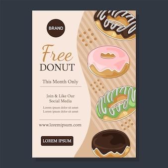 Donut-verkaufsplakat