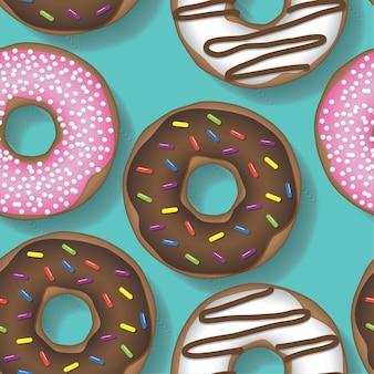 Donut wiederholendes muster