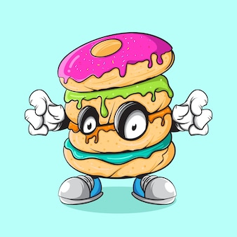 Donut zombie illustration