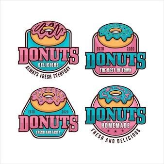 Donuts abzeichen design kollektion