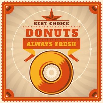 Donuts hintergrunddesign