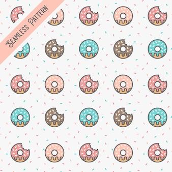 Donuts nahtlose musterillustration vektor