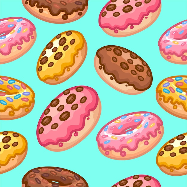 Donuts nahtloses muster