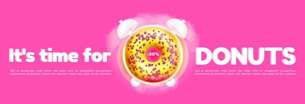 Donuts-werbevorlage