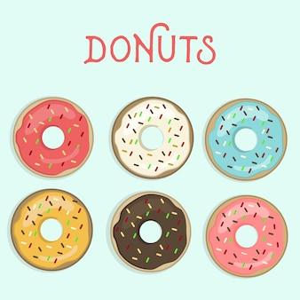 Donuts Kostenlosen Vektoren