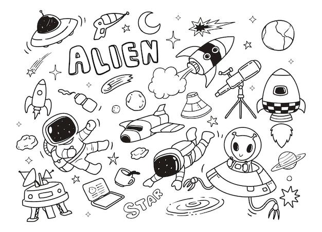 Doodle apace aliens