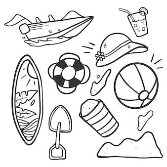 Doodle beach sticker pack