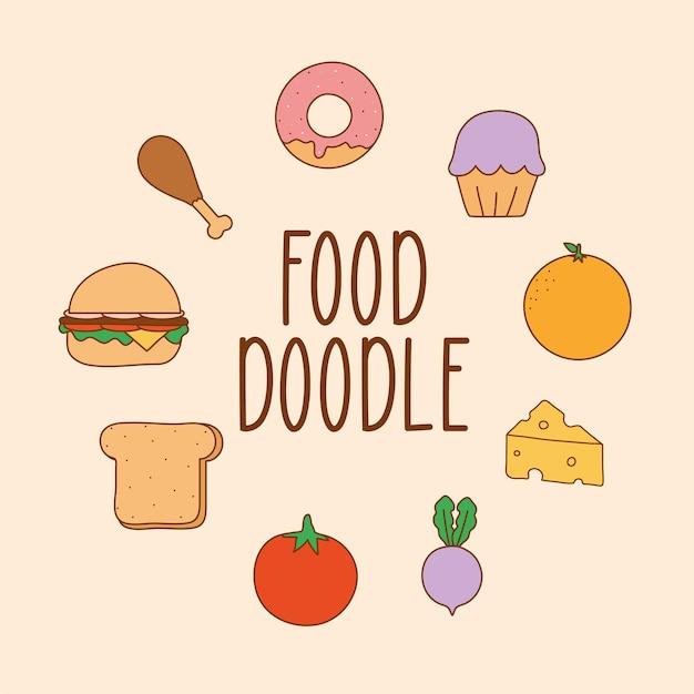 Doodle-food-karte