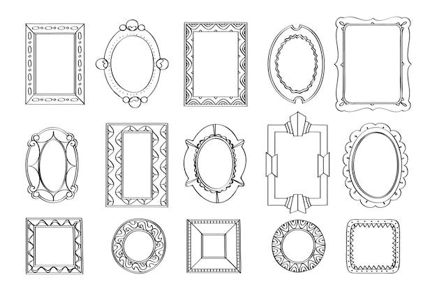 Doodle frame pack handgezeichnet pack