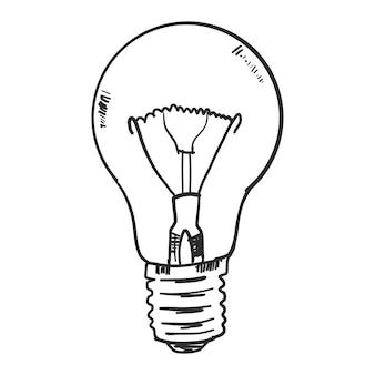 Doodle glühbirne
