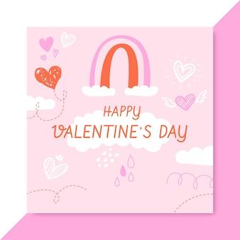 Doodle kindlichen valentinstag facebook-post