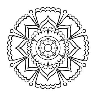Doodle mandala malvorlagen